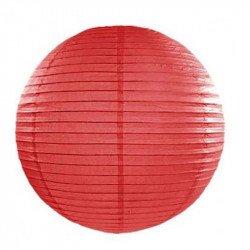 Lampion en papier uni - 40 cm - Rouge