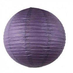 Lampion en papier uni - 40 cm - Violet