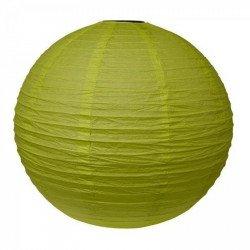 Lampion en papier uni - 40 cm - Vert pomme
