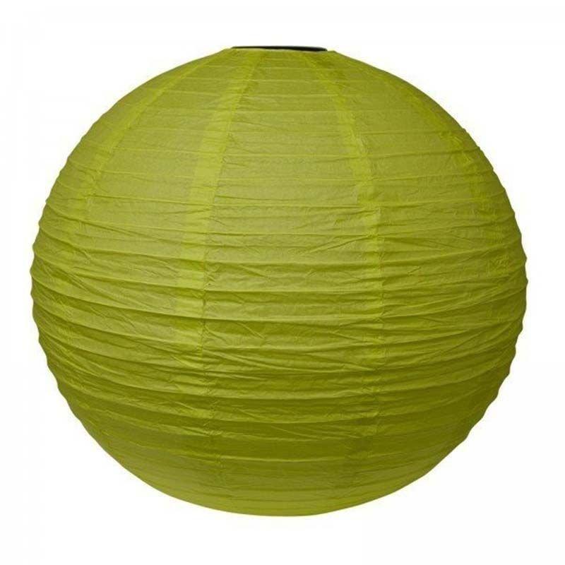 Lampion en papier uni vert pomme - 50 cm