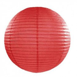 Lampion en papier uni - 50 cm - Rouge