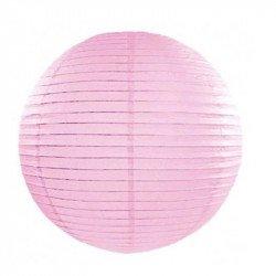 Lampion en papier uni - 50 cm - Rose pastel