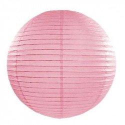 Lampion en papier uni - 50 cm - Rose