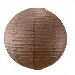 Lampion en papier uni - 50 cm - Marron