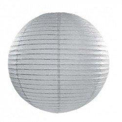 Lampion en papier uni - 60 cm - Gris clair