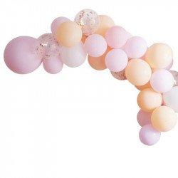 Arche de ballons pastel