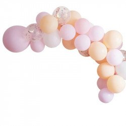 Guirlande de ballons pastel