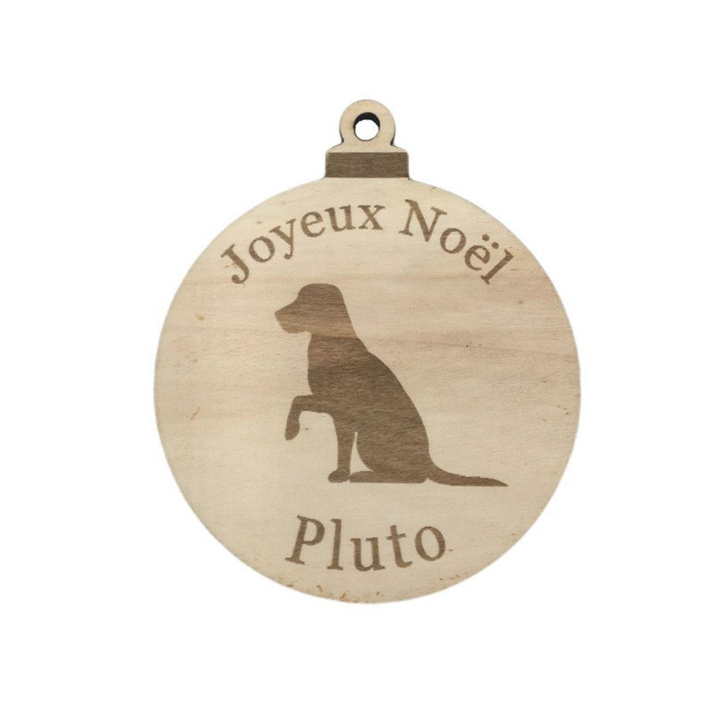 Boule de Noël chien