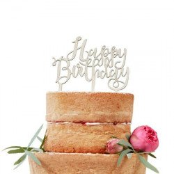 "Cake Topper en bois ""Happy Birthday"""