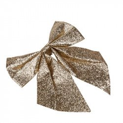 Grand noeud paillettes champagne - 28 cm