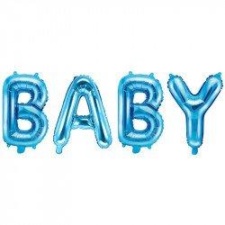 """Ballons \""""BABY\"""" bleu - 36CM"""