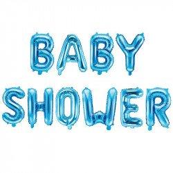 """Ballons \""""Baby Shower\"""" bleu - 36CM"""