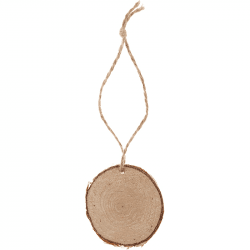 Marque-place rondin de bois naturel (x4)