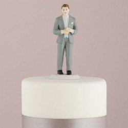 Figurine marié smoking gris