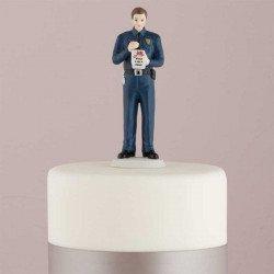 Figurine marié policier