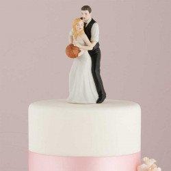 Figurine les mariés jouent au basket