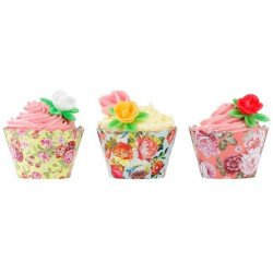 Tours de cupcake fleuri (x24)