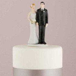 Figurine la mariée coquine-blanc