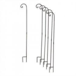 Support en métal noir pour jardin x6