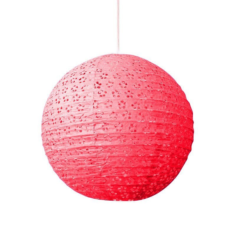 Lampion dentelle rouge - 35 cm