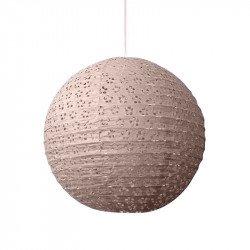 Lampion dentelle - 35 cm - Naturel