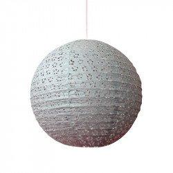 Lampion dentelle - 35 cm - Gris