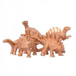 Dinosaures décoratifs dorés (x5)