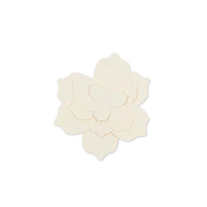 Fleurs papier à monter - 12,5 cm  (x5)