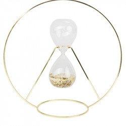 Sablier en verre sur Cercle doré