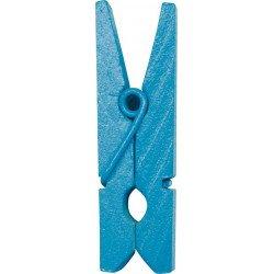 Pinces en bois (x12) - Turquoise