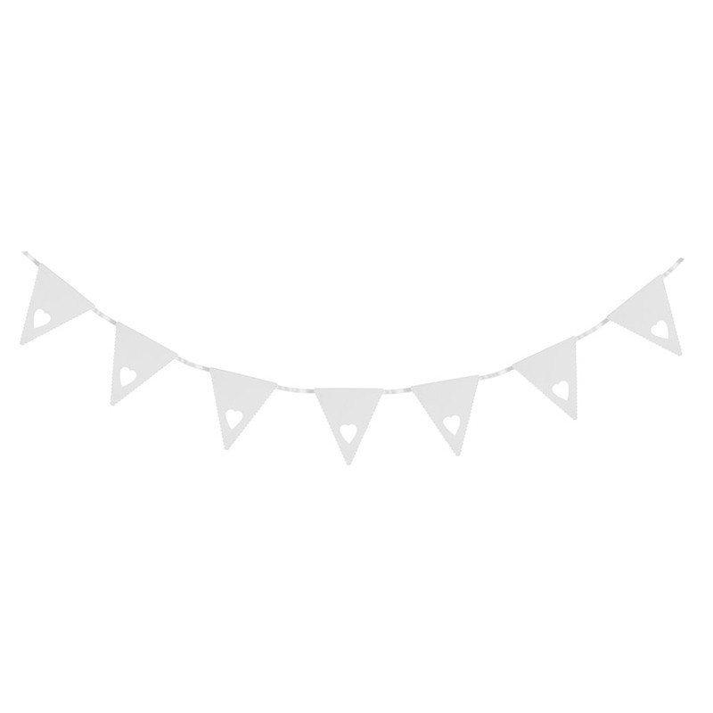 Banderole cœur  blanche