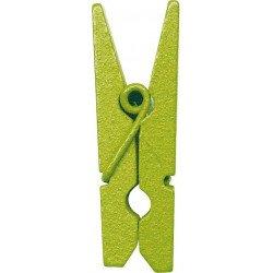 Pinces en bois (x12) - Vert clair