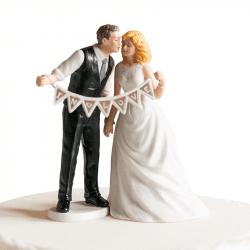 Figurine Mariés aux Fanions