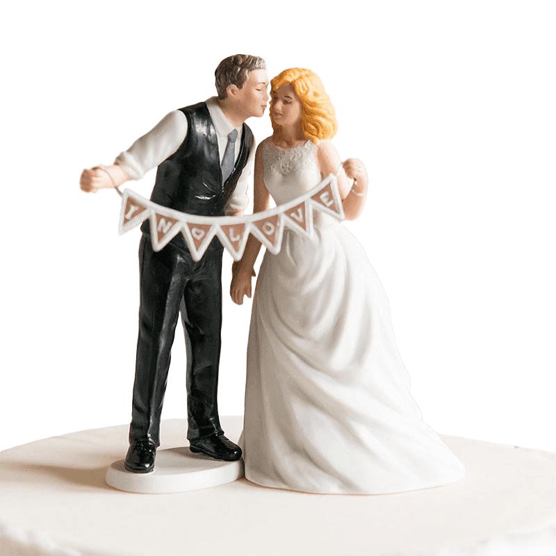 Figurine mariés fanion In Love