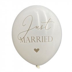 Ballons Just Married (x5)