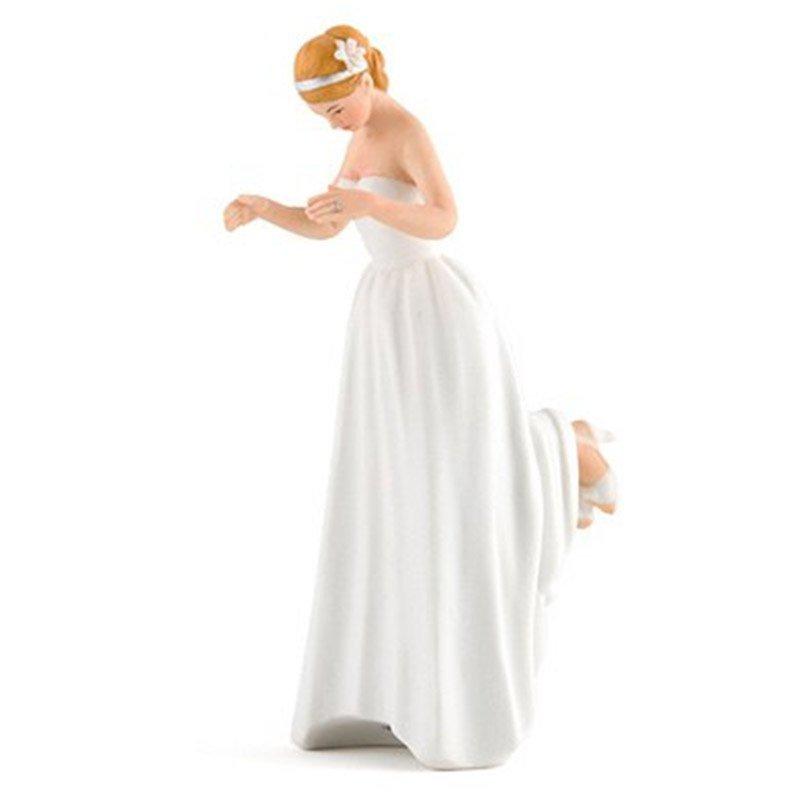 Figurine Romance - la mariée peau blanche
