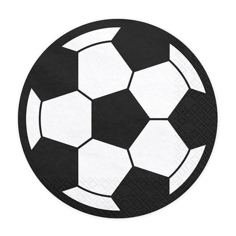 20 Serviettes Ballon de foot