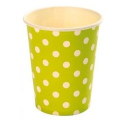 Gobelets à pois (x10) - Vert