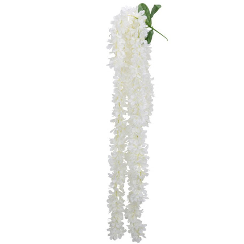 Descente de 5 branches de glycine - 1,10 M - Blanche