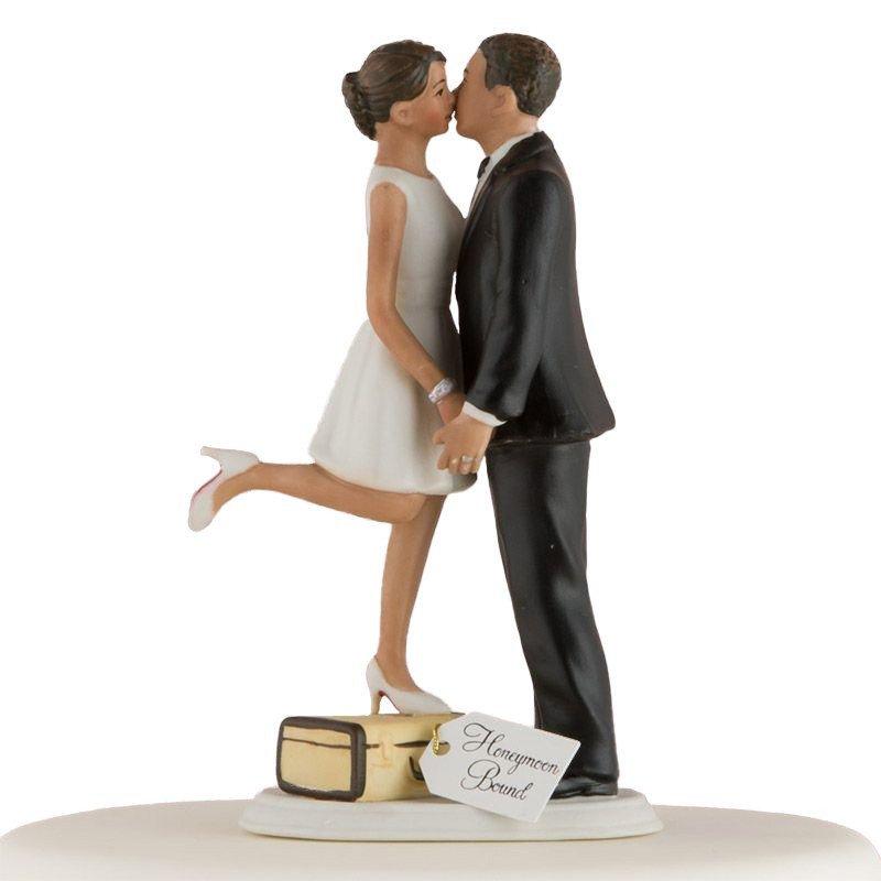 Figurine Les Mariés en voyage peau mate