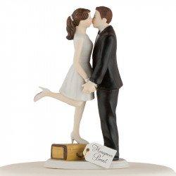 Figurine Les Mariés en Voyage - peau blanche