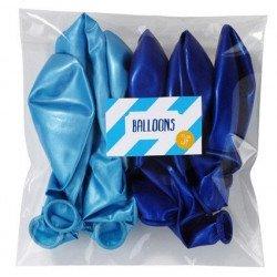 Ballons irisés bleus (x12) - Bleu
