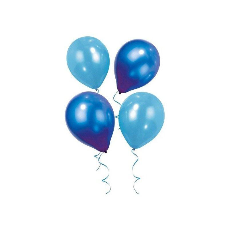 Ballons irisés deux nuances de bleu (x12)