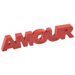 Mot Amour rouge