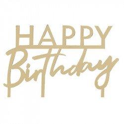 """Cake topper """"Happy Birthday"""" Doré"""