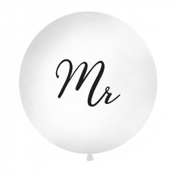 "Ballon rond XXL ""Mr"" - 1M"