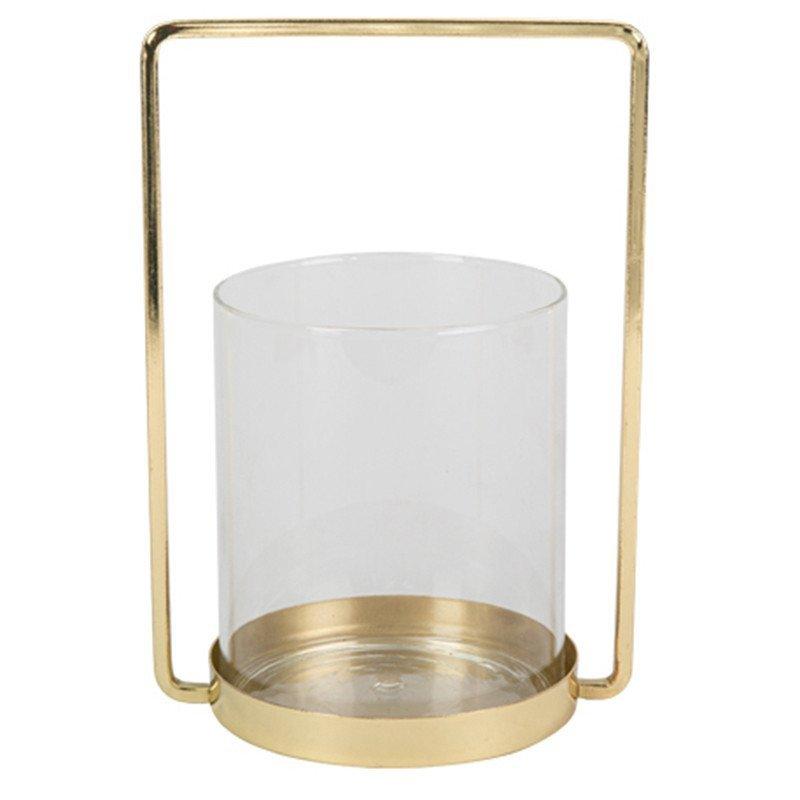 Photophore métal et verre - 25 cm