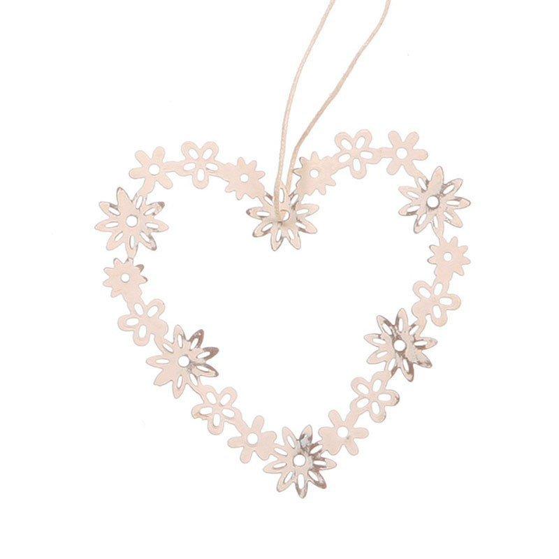 coeur floral à suspendre