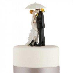 Figurines Les Mariés sous La Pluie