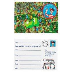 Invitations Charlie (x8) - Multicolore